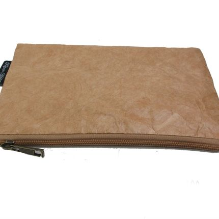 Clutches - Women's Eco-friendly Kraft Paper Bag - Brown - AUCTOR