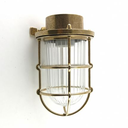Wall lamps - Brass Deck Passageway Headlamp no 16N - ANDROMEDA LIGHTING