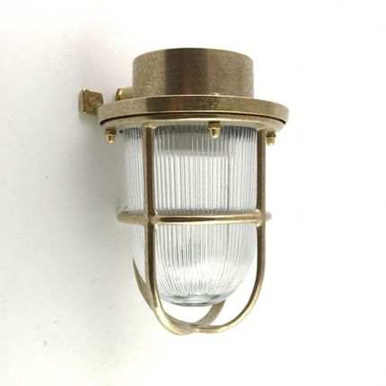 Wall lamps - Brass Deck Passageway Headlamp no 15N - ANDROMEDA LIGHTING