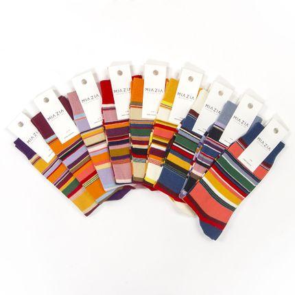 Socks - Striped Socks pack for Women - MIA ZIA