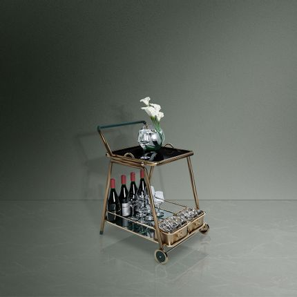 Chariot - Decatur Bar Cart - PORUS STUDIO