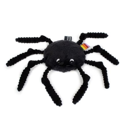 Soft toy - Ptipotos black spider - LES DEGLINGOS