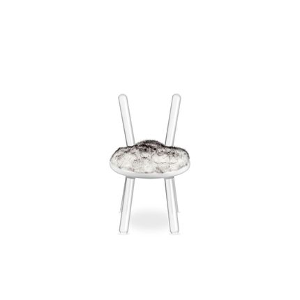 Stools - Illusion White Bear Stool  - COVET HOUSE