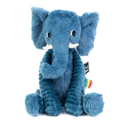 Soft toy - Ptipotos the blue elephant - LES DEGLINGOS