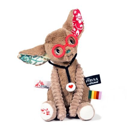 Soft toy - Tamalou, the fennec for Doctors without Borders - LES DEGLINGOS