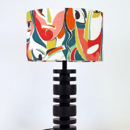 Lampes de table - Lampe Delka - Abat-jour tissu kagura Maison Pierre Frey -  SHĒDO