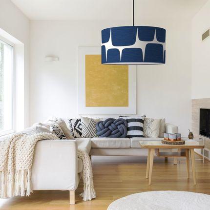 Hanging lights - Blue fifties indigo pendant lamp shade -  SHĒDO