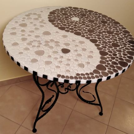 Tables - HARMONY Living Table - IRON ART MOZAIC