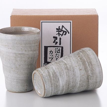 Mugs - Japanese Cups by 2 or by 5 - SHIROTSUKI / AKAZUKI JAPON