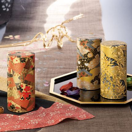 Objets design - Boite à thé washi 200g - SHIROTSUKI / AKAZUKI JAPON