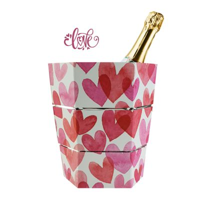 Carafes - Ice bucket and folding vase origami LOVE - ICEPAC FLOWERPAC