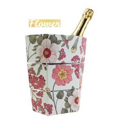 Gift - Ice bucket and folding vase origami FLOWER - ICEPAC FLOWERPAC
