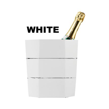 Carafes - Ice bucket and folding vase origami WHITE - ICEPAC FLOWERPAC