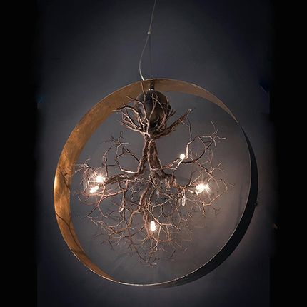 Pendant lamps - Roots in circle Large - F+M FOS