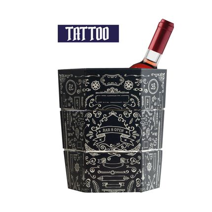 Carafes - Tattoo Ice Bucket and Foldable Origami Vase - ICEPAC FLOWERPAC