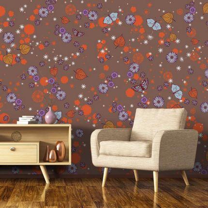Wallpaper - Les Feuilles d'Automne Panel - ETOFFE.COM