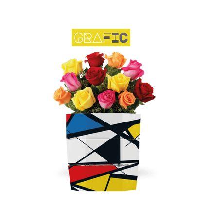 Carafes - Seau à glace et vase pliable origami GRAFIC - ICEPAC FLOWERPAC