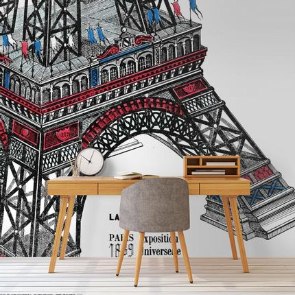 Wallpaper - Tour Eiffel Panel - ETOFFE.COM