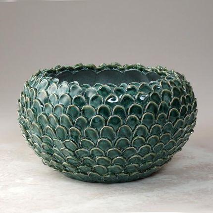 Céramique - écailles vertes Petit vase - CERAMICA ND DOLFI