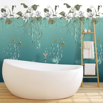Wallpaper - Water Lilies Panel Right - ETOFFE.COM