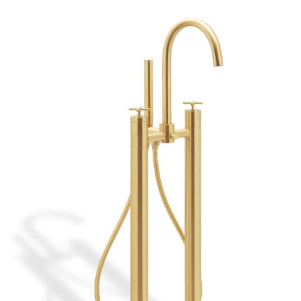 Meubles pour salles de bains - Mélangeur de sol avec robinet de douche Nau - MAISON VALENTINA