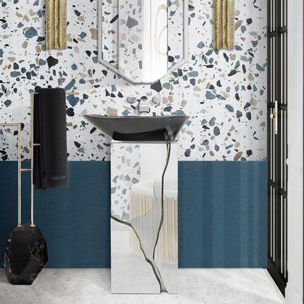 Lave main - Lavabo colonne Lapiaz Marble - MAISON VALENTINA
