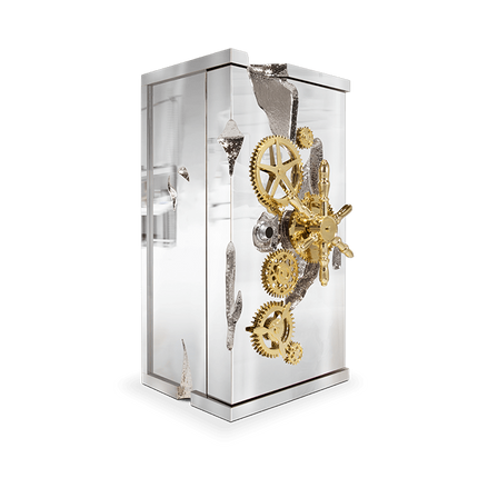 Unique pieces - MILLIONAIRE SILVER Luxury Safe - BOCA DO LOBO