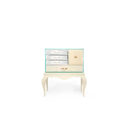 Night tables - Brooklyn Cream Nightstand - COVET HOUSE