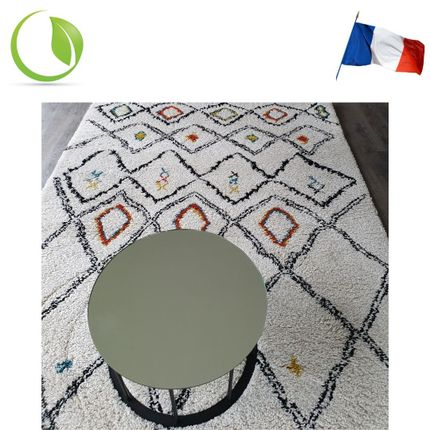 Coffee tables - Small side table TAMBOUR with durable mirror  - GLASSVARIATIONS