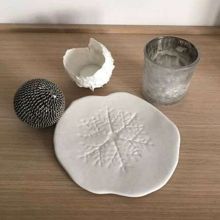 Everyday plates - Snowflake Dessert Plate - ANNE-SOPHIE BOULOGNE