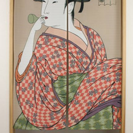 Wall decoration - Noren, traditional Japanese curtains - SHIROTSUKI / AKAZUKI JAPON
