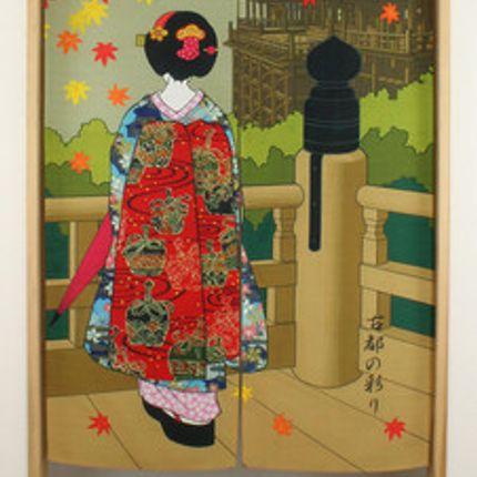 Décoration murale - Noren, rideaux japonais traditionnels - SHIROTSUKI / AKAZUKI JAPON