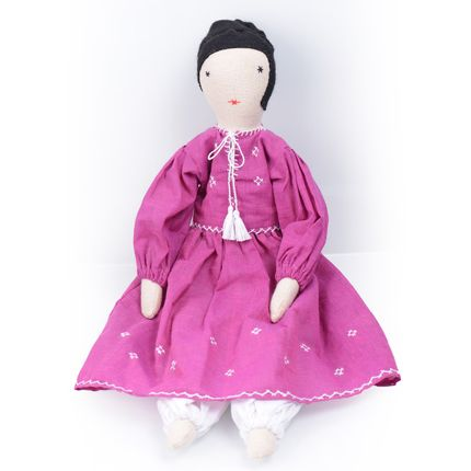 Soft toy - Doll Nargis in Fuchia - SILAIWALI