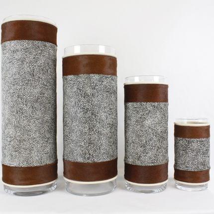 Vases - Vase en peau de vache  - TERGUS