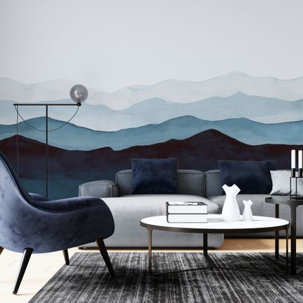 Wall decoration - Blue Mountains - Panoramic & exclusive wallpaper - LA TOUCHE ORIGINALE