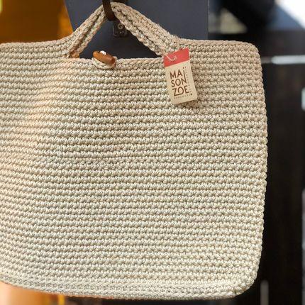 Bags / totes - Monac Handbag Crocheted Beige - MAISON ZOE