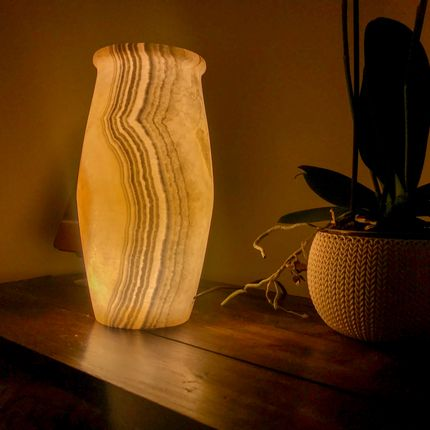 Table lamps - Towa Alabaster Lamp - MAISON ZOE