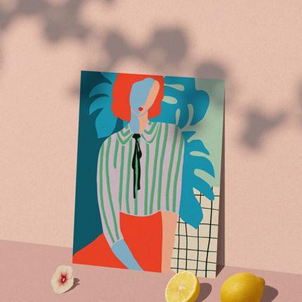 Affiches - AFFICHE LA DAME AUX MONSTERAS - SHANDOR