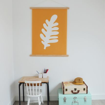"Wall decoration - WALl HANGING "" THE OCHRE LEAF"" - SHANDOR"