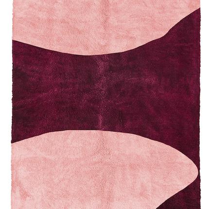 Contemporary - Pink Modern Moroccan handmade rug. - WEBERBER