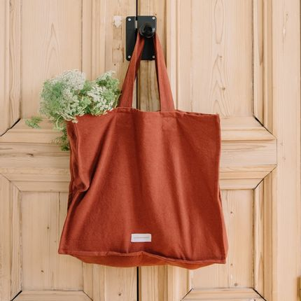 Bags / totes - LARGE TOTE BAG IN A THICK COTTON CANVAS - LES PENSIONNAIRES