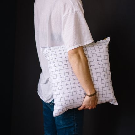 Cushions - CUSHION WITH REMOVALE COTTON COVER - LES PENSIONNAIRES