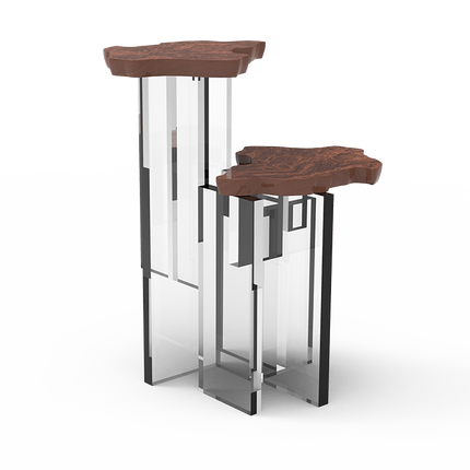 Tables - MONET WALNUT Side Table - BOCA DO LOBO