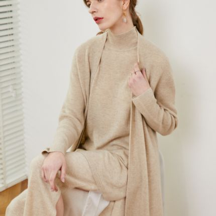 Homewear - Cashmere knitted pants - SANDRIVER CASHMERE