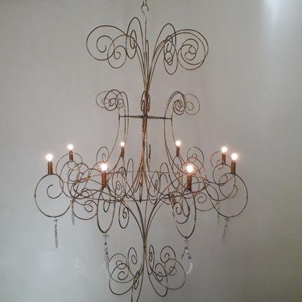 Hanging lights - Volute chandelier brass 3.2.2 - MARKO CREATION