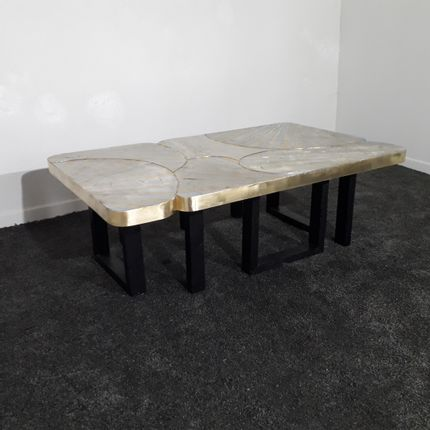 Coffee tables - Coffee table brass and zinc - MARKO CREATION