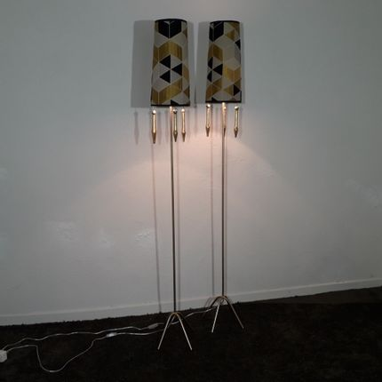 Floor lamps - Golden parquet lamp - MARKO CREATION
