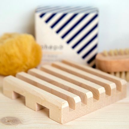 Installation accessories - Parallel Soap Dish in Raw Maple Wood - OHËPO