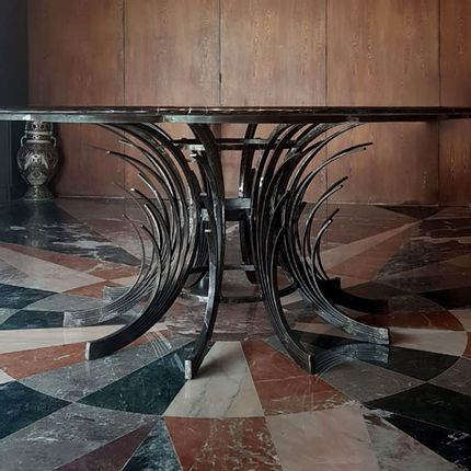 Tables - TABLE SALLE A MANGER PLATEAU MARBRE - MADE IN DIVA