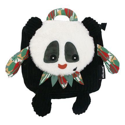 Bags / bookbags - Corduroy Backpack Rototos the Panda  - LES DEGLINGOS